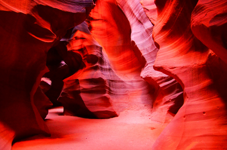 Beautiful red rocks of Antelope Canyon, Page, Arizona, USA photo