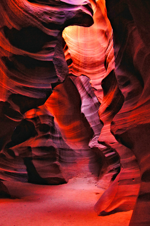 Red rocks of Antelope Canyon, Page, Arizona, USA photo