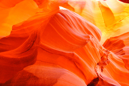 rock formation: Vibrant orange glow of a canyon in Arizona, USA Stock Photo