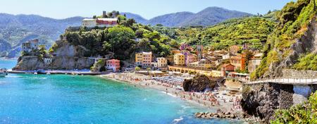 monterosso: Panoramic coastal view at Monterosso, Cinque Terre, Italy