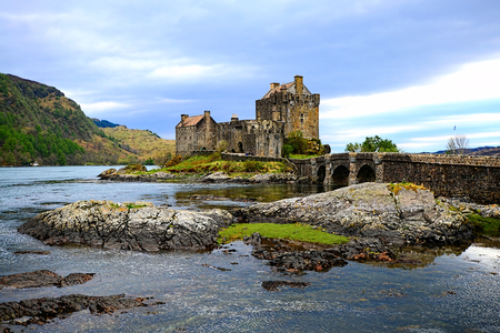 Iconic Eilean Donan Castle set in the lochs of Scotland