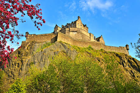 princes street: View of Edinburgh Castle from Princes Street Gardens Editorial