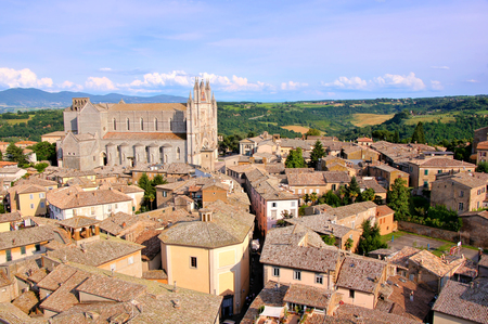 View over the old town of Orvieto, Italy photo
