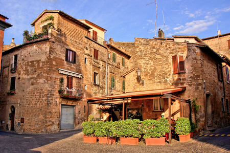 orvieto: Outdoor cafe in the picturesque old town of Orvieto, Italy