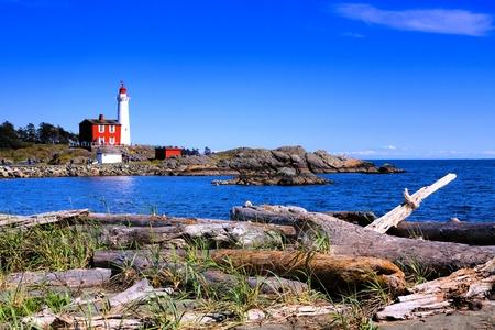 ビクトリア、bc 州、カナダに近い太平洋海岸フィスガード灯台ナショナル ヒストリック サイト