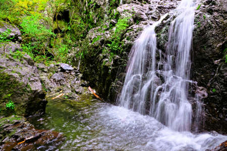 victoria bc: Picturesque Maryvine Falls in Sooke Potholes Provincial Park, Vancouver, BC, Canada