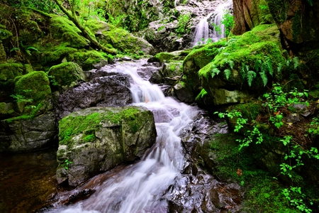 Beautiful Maryvine Falls in Sooke Potholes Provincial Park, Vancouver, BC, Canada