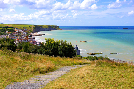 View over the D-day beaches at Arromanches les Bains, Normandy, France