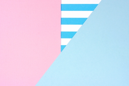 Pastel pink and blue angular abstract background with striped pattern