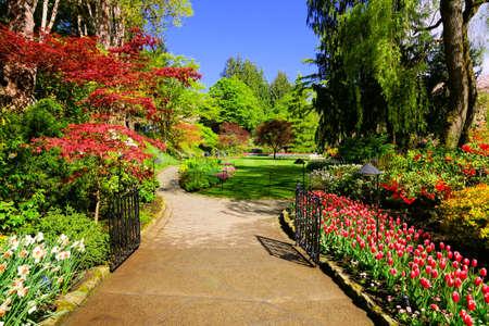 Butchart Gardens, Victoria, Canada. Path Through Beautiful ...