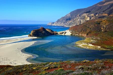 Beautiful ocean views along the Pacific Coast Highway, California, USA