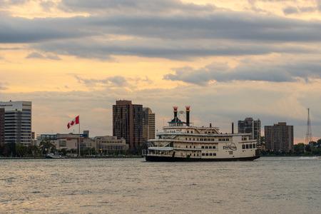 Detroit, Mi - September 7, 2019: Detroit Princess dinner showboat touring the detroit river