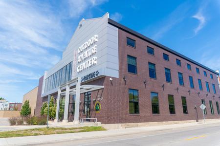 Detroit, MI - September 7,2019:  Adventure Center detroits department of natural resources recreational facility Редакционное