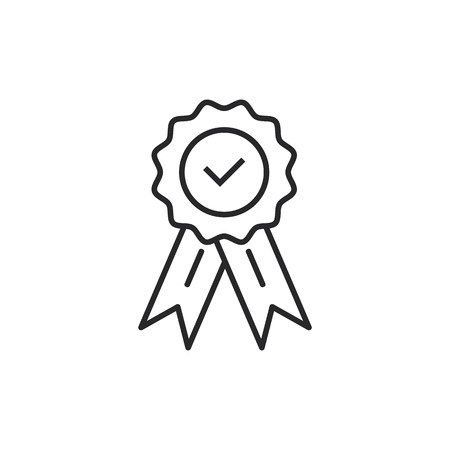 Guaranty certificate medal with approved  for web shop vector. Approved medal icon.