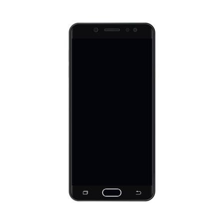 Black smartphone with empty black screen. Black Smartphone  with black empty screen vector eps10.