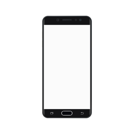 Black smartpho with empty white screen.Black Smartphone with white screen vector eps10.