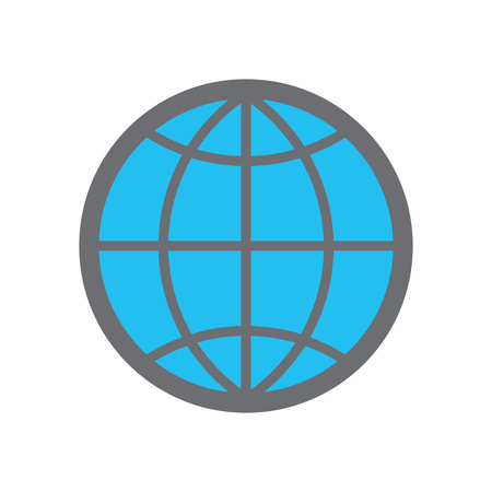 Web icon vector es10. Globe web sign for website. www icon.