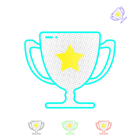 A winners cup, trophy symbolizes victory. Winner gold cup. First place prize.  Tropy reward. Ilustrace