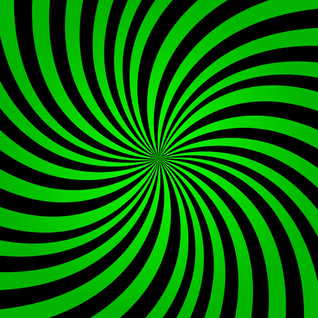 Green rainbow rays background. Green color burst background vector. Green and black rays background.  イラスト・ベクター素材