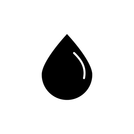 black Drop water or oil. Vector oil drop icon vector