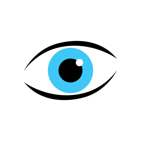 Eye logo vector icon. Eye care icon. Illustration