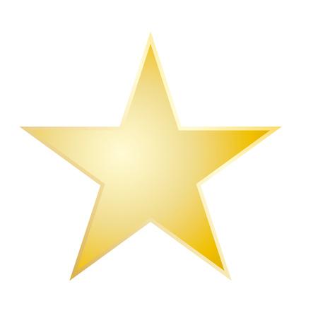 Eps10 vector icono de calificación de estrellas de oro. Signo de estrella. Icono de estrella amarilla.