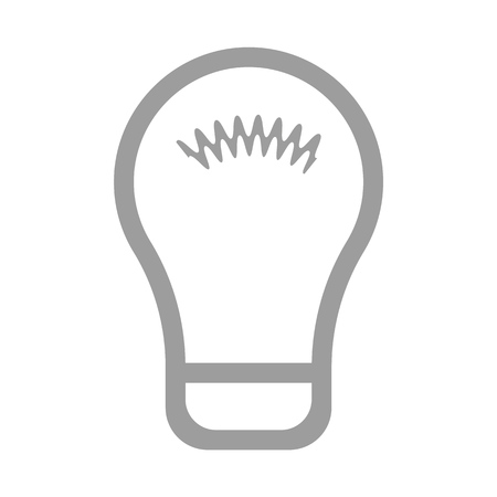 Lamp  bulb outline flat style vector eps10. bulb sign. Idea icon. Bulb icon isolated on light background. Symbol of lighting, electric. Idea sign, thinking concept in flat style for graphic design, Illustration