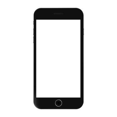 Smartphonein black color with white scree vector. Smartphone mobile icon vector eps10. Realistic smartphone  sign.