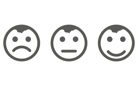 Smile Icon vector eps10. Smiley face sign. Emoji face smiley icon line symbol. Isolated vector illustration of happy sign concept for your web site mobile app logo UI design.