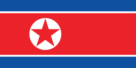 North Korea  flag vector eps10. Flag of North korea on white background.