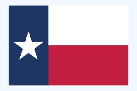 Texas flag vector. Flag of Texas is the second largest state of United States. Vector illustration 矢量图像