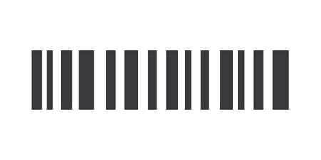 grey Barcode vector eps10. Barcode icon Illustration