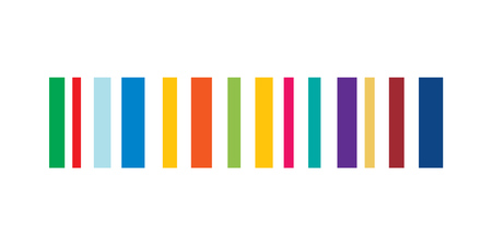 colored Barcode vector eps10. Barcode icon