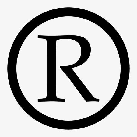 Registered trademark sign. Registered trademark icon vector.