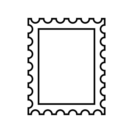 Francobollo contorno icona vettoriale eps10. Vettore del francobollo.
