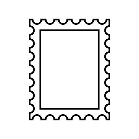 Timbre-poste contour icône vecteur eps10. Vecteur de timbre-poste.