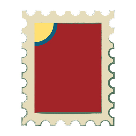 Postage stamp sign. Postage stamp icon vector. Illustration