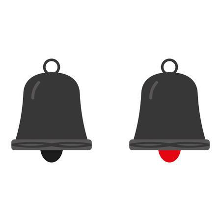 Grey bell icon vector eps10. ringing Bell sign.