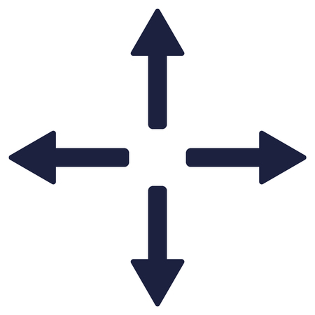 Arrow down up left and right set vector. Arrows set on white background.