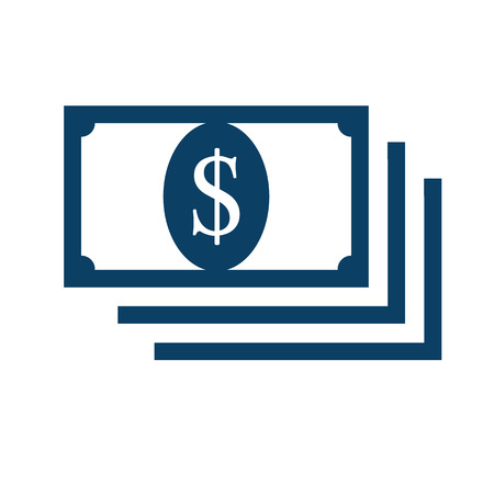 Money flat style icon vector. bank notes cash money. dollar money cash icon, cash register, money payment.