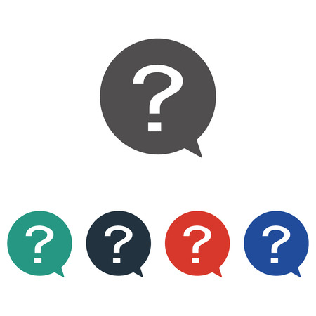 Question in circle icon vector . Question vector sign