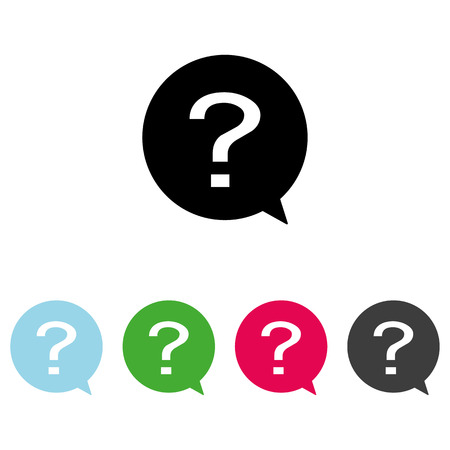 Question in circle icon vector . Question vector sign.