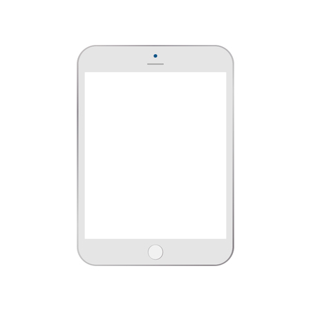 white tablet cartoon style vector . white tablet cartoon style black empty screen