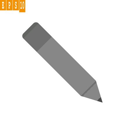Grey Pencil icon vector. Grey pencil note vector sign.