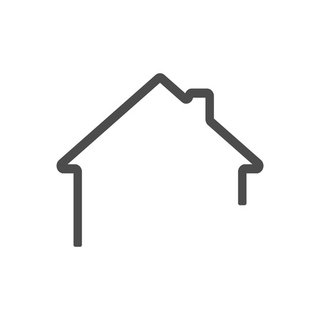 dark grey Home outline icon vector . House icon outline.