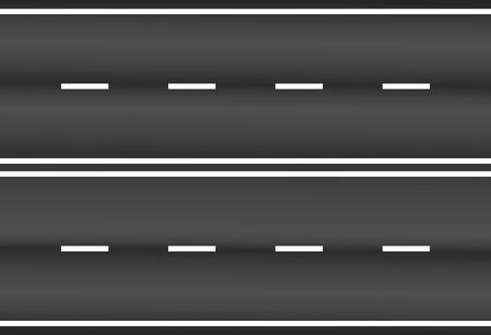 Texture de route asphaltée avec vecteur de rayures blanches. Route asphaltée illustration vectorielle sur fond blanc.