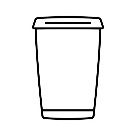 Coffee cup outline vector eps10 illustration