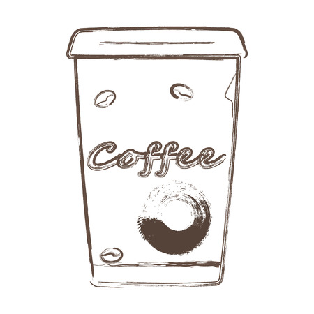 Coffee cup hand drawing vector. Coffee cup vector eps10 fo cafe.