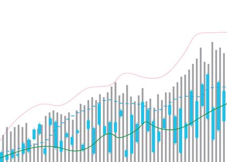 Candle stick graph chart of stock market investment trading, Bullish point, Bearish point. Candle stick graph chart of stock market investment trading, Ilustracje wektorowe