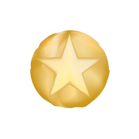 GOLD sheriff star vector eps10. old style star from texas. Vector Golden Sheriff Star.